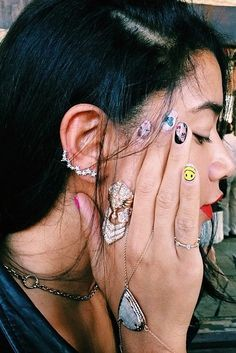 The coolest and cleverest Spring nail art to get your creative juices flowing. Pictured: '90s Music Montage