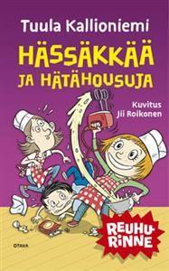 http://www.adlibris.com/fi/product.aspx?isbn=9511282050   Nimeke: Hässäkkää ja hätähousuja - Tekijä: Tuula Kallioniemi - ISBN: 9511282050 - Hinta: 10,80 €