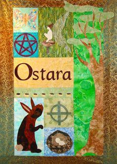 Ostara Spring Equinox Quilt Wallhanging by BluePhoenixCreations