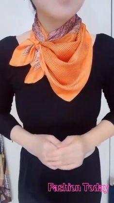 Ways To Tie Scarves, Ways To Wear A Scarf, How To Wear Scarves, Scarf Wearing Styles, Scarf Styles, Scarf Knots, Diy Scarf, Diy Fashion Hacks, Fashion Ideas