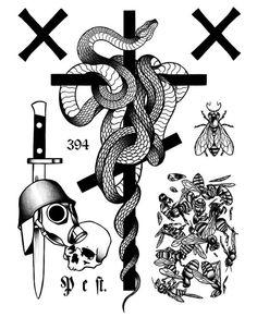 Best tattoos on pinterest Kritzelei Tattoo, Tattoo Dotwork, Punk Tattoo, Doodle Tattoo, My Doodle, Dot Work, Minimal Tattoo, Tattoo Sketches, Color Tattoo