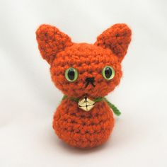 Hey Kitty Kitty | Pumpkin the Nekomini | Little crochet Halloween cat