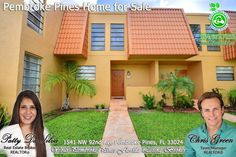 FOR SALE ~ Awesome 3 bed, 2.5 bath townhome/condo in the heart of Pembroke Pines. For photos & info, visit http://greenrealtyproperties.com/profiles/blogs/townhome-condo-in-pembroke-pines-for-sale-by-broker-patty-da-silv . Call 954-667-7253