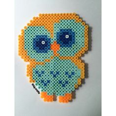 Owl hama perler beads by kg.crafts