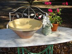 french antique confit pottery bowl french tian by funknjunkinc, $195.00