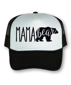 80d3d219f16 Black  amp  White  Mama Bear  Trucker Hat