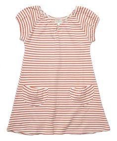 Another great find on #zulily! Firebrick Stripe Bella Ona Dress - Toddler & Girls #zulilyfinds