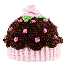 Crochet Cupcake Hat.. hermoso