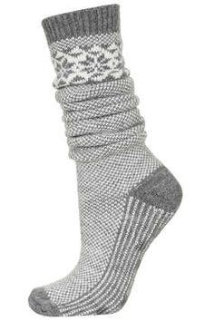 Long Snowflake Slipper Socks