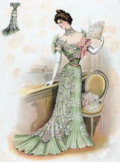 z- Victorian Woman w Fan, 1899