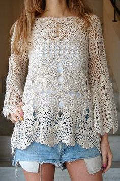 crochet blouse with graphs