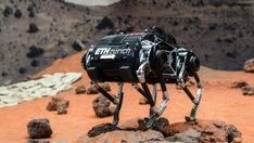 The walking and hopping SpaceBok robot is being tested now in ESA's Mars Yard, in the Netherlands. Someday these little robots might help explore the moon, or Mars. Neil Armstrong, Apollo 11, Robot Videos, Astronauts On The Moon, Low Gravity, Robot Technology, Technology News, Latest Technology, Boston Dynamics