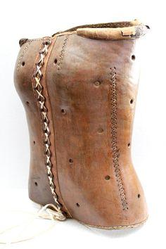 antique leather lace up corset // Victorian // by RedTuTuRetro, $395.00