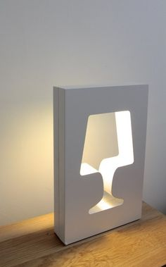 Indirect light wooden table lamp OUTLIGHT by La Corbeille Editions | #design Benjamin Faure