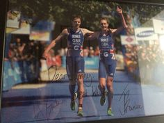 A graduation gift from my two heroes Jonathan and Alistair Brownlee. Wish I looked this good in my tri suit!