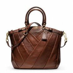 Coach Madison Diagonal Pleated Mixed Exotic Lindsey Satchel Style @Angel Hopper Berthlett birthday present? :)