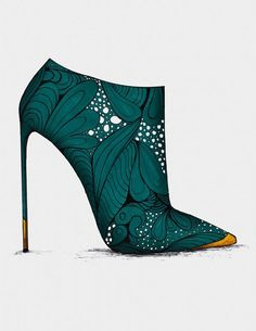 @yuliyakasaraba  These shoes are exquisite. I could never manage the high heels, but I can admire the shoe as a work of art.