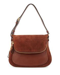 Jennifer Suede Shoulder Bag, Brown by Tom Ford at Bergdorf Goodman.