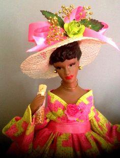 African American Sorority Doll  Black Doll  by Divineangelshop, $29.99