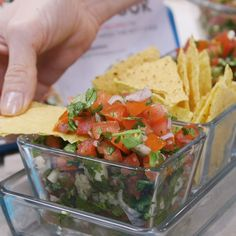 Nothing like fresh, homemade pico de gallo to top on tacos, quesadillas, nachos, or any of your favorite Mexican dishes. See how to make pico de gallo with this quick video and recipe. Homemade Pico d Gourmet Recipes, Mexican Food Recipes, Cooking Recipes, Healthy Recipes, Mexican Appetizers, Indian Recipes, Mexican Snacks, Nachos, Quesadillas