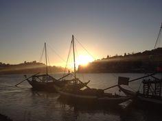 Douro river sunset, Oporto, Portugal