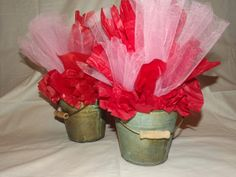 Valentine Center Piece...simple & rustic great for school parties