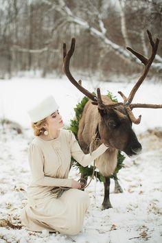 Christmas Bride & Reindeer