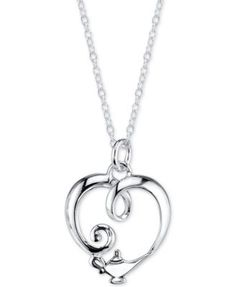 Disney Aladdin Genie Lamp Pendant Necklace in Sterling Silver - Necklaces - Jewelry & Watches - Macy's