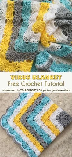 Baby Crochet Patterns Virus Blanket Afghan Free Crochet Tutorial, Crochet Pattern One of the most amazing patterns ever.Virus Blanket Afghan Free Crochet Tutorial, Crochet Sample Some of the superb patterns ever. Observe us to see extra patters for child Crochet Afghans, Col Crochet, Stitch Crochet, Crochet Gratis, Crochet Motifs, Manta Crochet, Baby Blanket Crochet, Crochet Shawl, Crochet Stitches