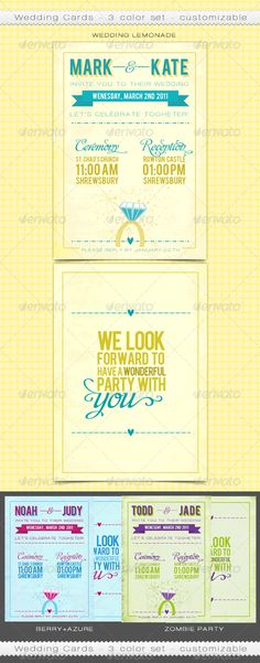 Customizable Wedding Cards Template PSD | Buy and Download: http://graphicriver.net/item/customizable-wedding-cards/165521?WT.ac=category_thumb&WT.z_author=rosewarne&ref=ksioks