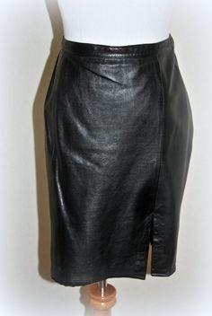Plum Leather Skirt, Mini Skirt, Pencil skirt, Mid-Length Skirt ...