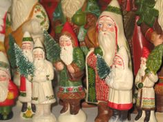 German Belsnickle Santas crafted from antique chocolate molds, bittersweethouse.com