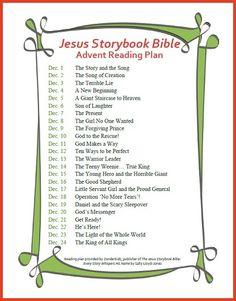 Jesus Storybook Bible Advent Calendar Printable - FaithGateway