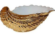 Shell Bowl w/ 24K Gold on OneKingsLane.com