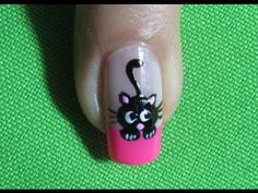 Uñas De Gato - Black Cat Nail Art |Nails-Uñas| Gato negro |Black Cat |Nail Art | Nailslucerocordoba - YouTube
