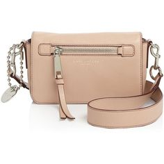 Marc Jacobs Recruit Crossbody (1,110 CNY) ❤ liked on Polyvore featuring bags, handbags, shoulder bags, nude, leather purses, marc jacobs shoulder bag, crossbody purses, leather crossbody and nude purses