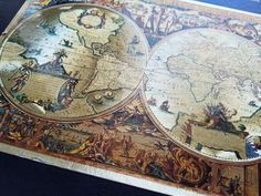 Old world map jigsaw puzzle ravensburger collectors ed gold historical map of the world 1000 jigsaw puzzle gumiabroncs Image collections