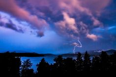 Thunder and lighting over Lake Pend Orielle