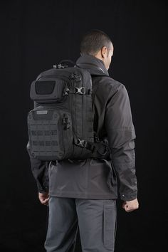 The RIFTCORE backpack from Maxpedition's Advanced Gear Research has a lockable main compartment and stowable padded waist belt. www.Maxpedition.com