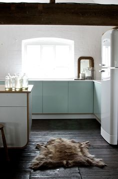 We love the perfect mix of old and new in this shot of deVOL's Air Kitchen.