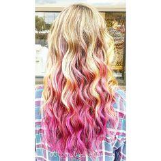 #tbt to warmer days and waves ! Some let me make their hair crazy!  #pinkhair #pinkombre #color #haircolor #hair #waves #hairs #hairstylist #hairstyle #wavesfordays #pinkhairdontcare #pink #modernsalon #mechanicsburg #harrisburg #cherishburg #midtown #hershey #hbg #cvhs #curls #carlisle #pa #centralpa #imallaboutdahair @modernsalon @imallaboutdahair @american_salon @behindthechair_com @stylistssupportingstylists @stylistshopconnect