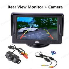 new car  4.3 Inch TFT LCD Rear View Monitor + Waterproof Night Vision Camera+Video Transmitter & Receiver Kit