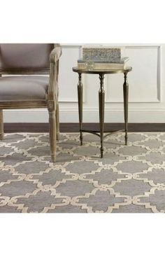 OUT OF STOCK Rugs USA Velvet Trellis VL01 Light Grey Rug