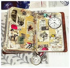 Busy week, both at work and at home, so I post an old spread in ny passport size Traveler\'s Notebook. I still like it. #craft #crafting #craftbymarta #madebymarta #madebyme #crafttable #mycrafttable #myhappyplace #paper #papercraft #paperadfict #vintage #vintagepaper #creativity #instaphoto #instacraft #instadaily #tn #mtn #travelersnotebook #journaling #instaart #art #modernart #mixedmedia #mixedmediaart #winter2018 #february2018