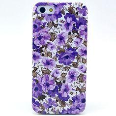 EUR € 3.83 - Morning Glory paars Patroon TPU Soft Case voor iPhone 5/5S , Gratis Verzending voor alle Gadgets!