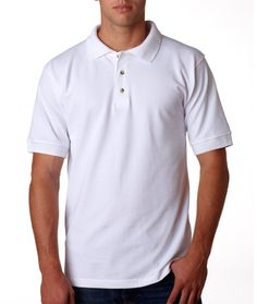 Pique Polo Shirts - Buy bayside adult pique polo. It contains 100% combed cotton 6.2-oz. Preshrunk 1x1 rib knit cuffs Side-seamed Sizes
