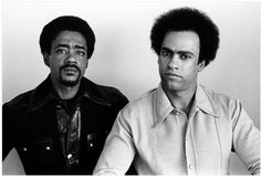 Black Panther co-founders Bobby Seale and Huey P. Newton pose in Huey's penthouse apartment, 1971  Photo credit: Stephen Shames