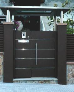 PORTONES Más House Main Gates Design, Front Gate Design, Door Gate Design, Main Door Design, House Design, Gate Designs Modern, Modern Fence Design, Steel Gate Design, Front Gates