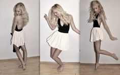 Spin me round again.. (by Lisa Hildebrand) http://lookbook.nu/look/456985-Spin-me-round-again    American apparel. happy ballerina look