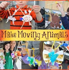 Learn how to help your kids create a moveable puppet of their favorite animal.